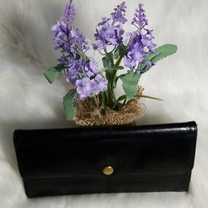 Vintage Black Leather Coach Wallet